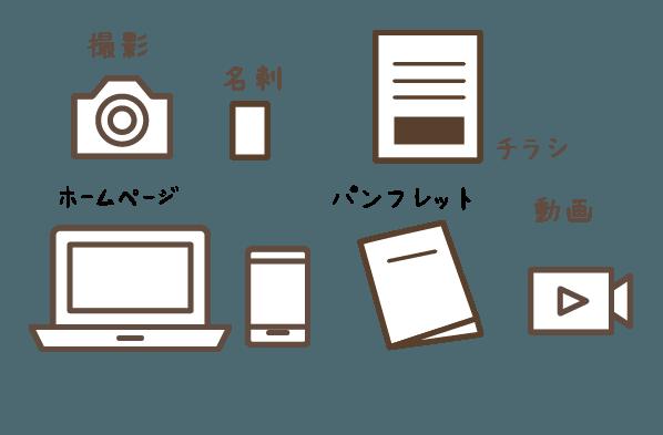 ホームページ以外のデザインツールも お任せください。